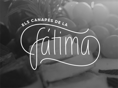 fátima logo logo branding lettering line minimal handwriting script food
