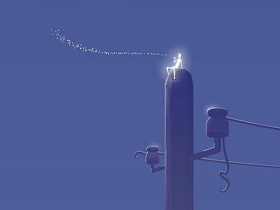 nocturno stars illustration vector