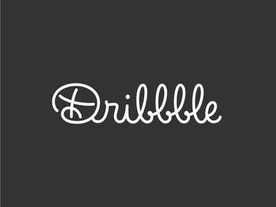 Dribbble Logo basketball ball icon logo vector monoline handwritting lettering
