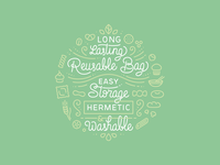 Lettering for Dry Food
