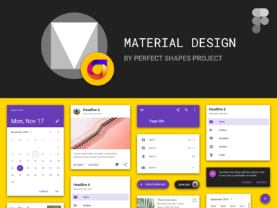 Free Material Design Kit For Figma by Perfect Shapes Project