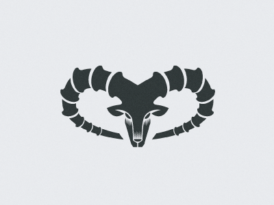 Ibex2 ibex power strenght mountain rock spiral head horn animal goat simple shape logo