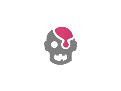 Delicious Brains1 delicious brain zombie horror head apocalypse logo