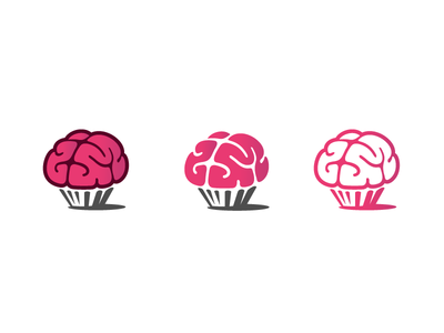 Delicious Brains3 delicious brain zombie horror head apocalypse logo candy muffin cup cake monster vein blood dark funny simple negative space corpse cupcakes mind thought