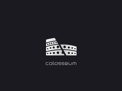 colosseum technology ancient rome software code digital logo fortress colosseum