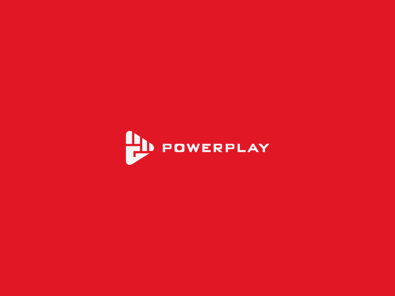 Power Play power play button camera video logo fist hand shot finger thumb tech simple replay