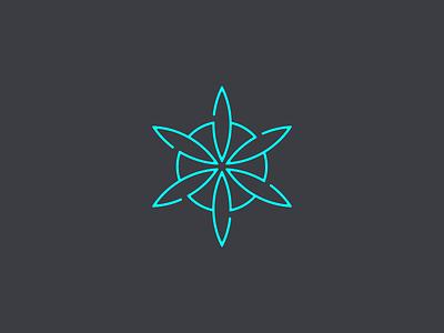 flower of life floral geometry shape petal outline line logo life flower