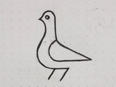 pigeon lineart line sketch drawing animal bird pigeon