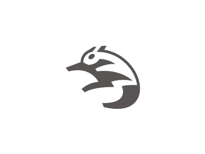 Flying squirrel simpe mark space negative logo fly nature icon animal squirrel flat flyin