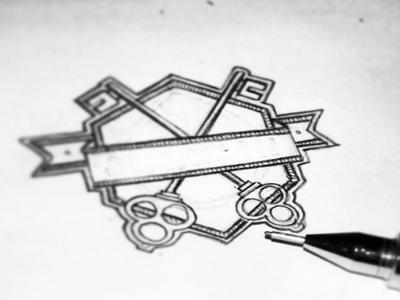 """K"" sketch key sketch paper pencil amblem logo hexa door house rental home security"