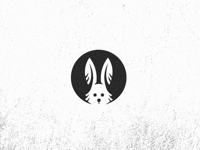 Rabbit rabbit animal speed ears logo simple negative space hole grunge