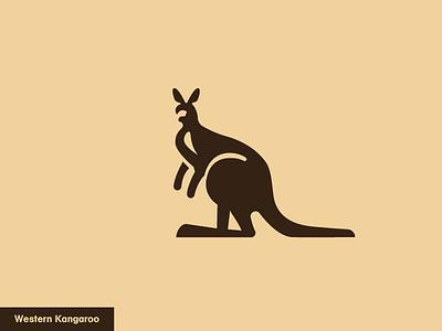 Western Kangaroo 9/24 logo nature icon animal kangoo kangaroo western