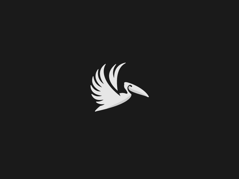 Pelican  pelican bird animal fly nature wing logo beak air