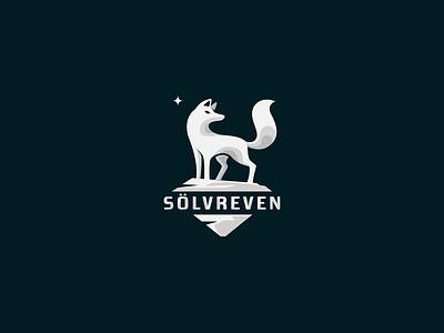 SÖLVREVEN fox silver animal ice north snow star logo iceberg cold norway