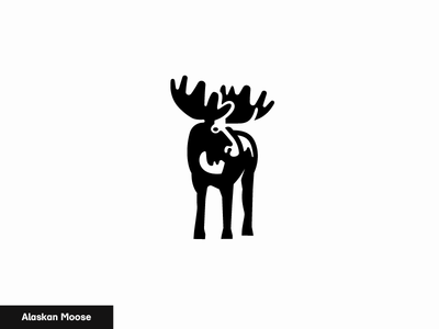 Alaskan Moose logo nature icon animal