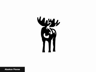 Alaskan Moose 13/24 logo nature icon animal