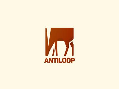 Antiloop antilope animal horn africa logo loop