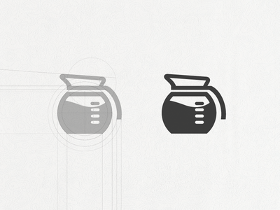 Opbeat coffee pot table stain operation logo simple measure software