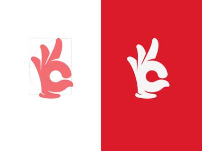 OK! ok hand icon logo finger point glove human think
