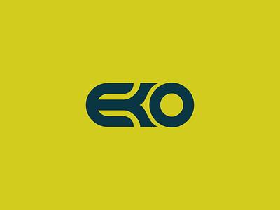 EKO eko nature leaf flower icon logo letter circle simple plant stevan