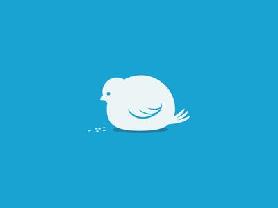 Overtweeted twitt bird social over fat icon animal food tweet