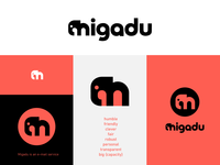 Migadu email monogram elephant icon branding logo m migadu