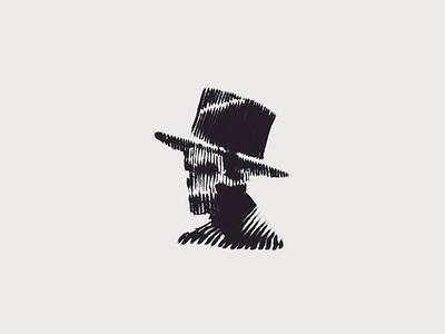 Mr Skull illustration horror line drawing death skull