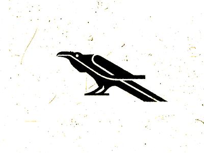 Raven nature ink animal illustration logo texture black bird raven