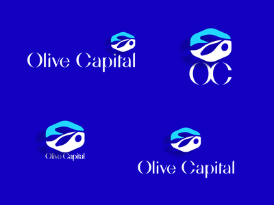 Olive Capital branch symbol hexagon nature plant monogram oc business shape logo venture capital olive