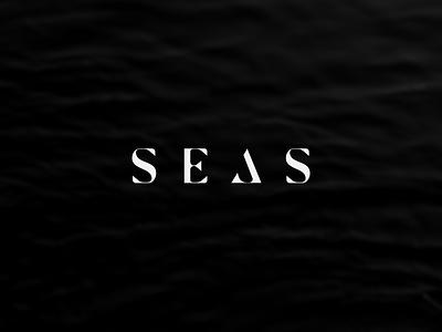 SEAS letter custom water logo logotype sea seas