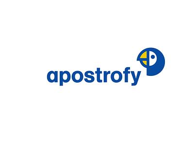 apostrofy gramatic word symbol bird animal parrot logo apostophe app apostrofy