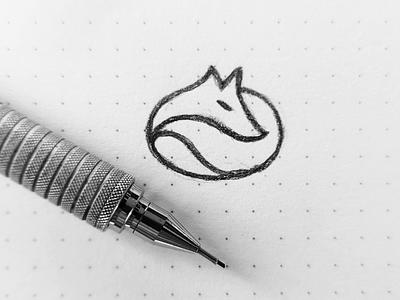 fox sketch line circle nature illustration drawing logo sketch animal fox