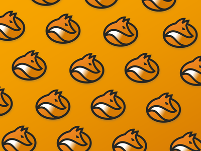 fox bean shape circle drink forest line icon illustration coffee logo animal bean fox