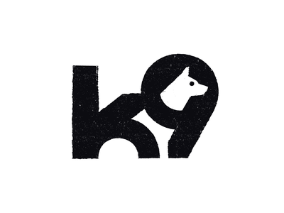 K9 veterinary symbol 9 k nature pet concept black texture space negative logo animal dog