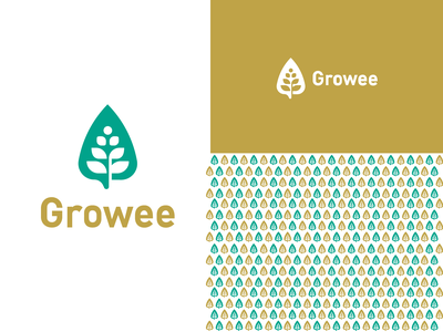 Growee growth grow life icon logo seed leaf nature garden plant