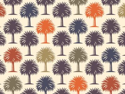 Palm pattern print pattern logo trunk leaf color nature illustration tree palm