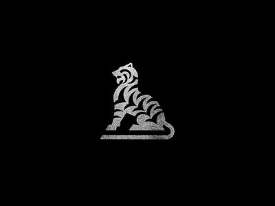 TIGA proud stance nature beast texture stripe style logo jungle cat animal tiger