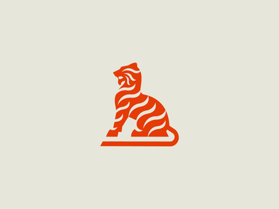 Tiger bigcat cat stripe jungle animal logo tiger
