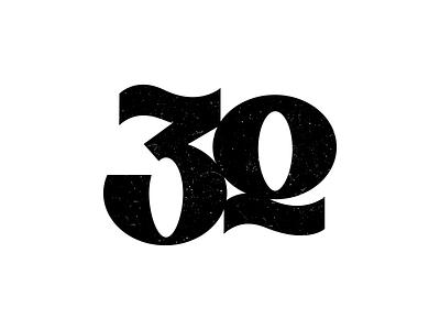30 0 3 logotype typography texture logo number 30