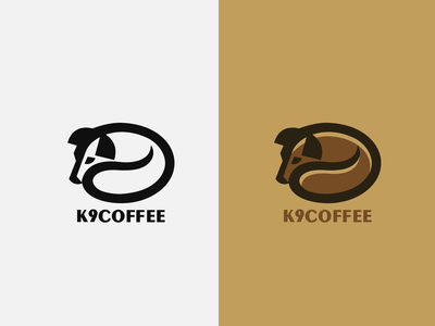 K9 COFFEE bean logo drink beverage pet animal dog coffee k9