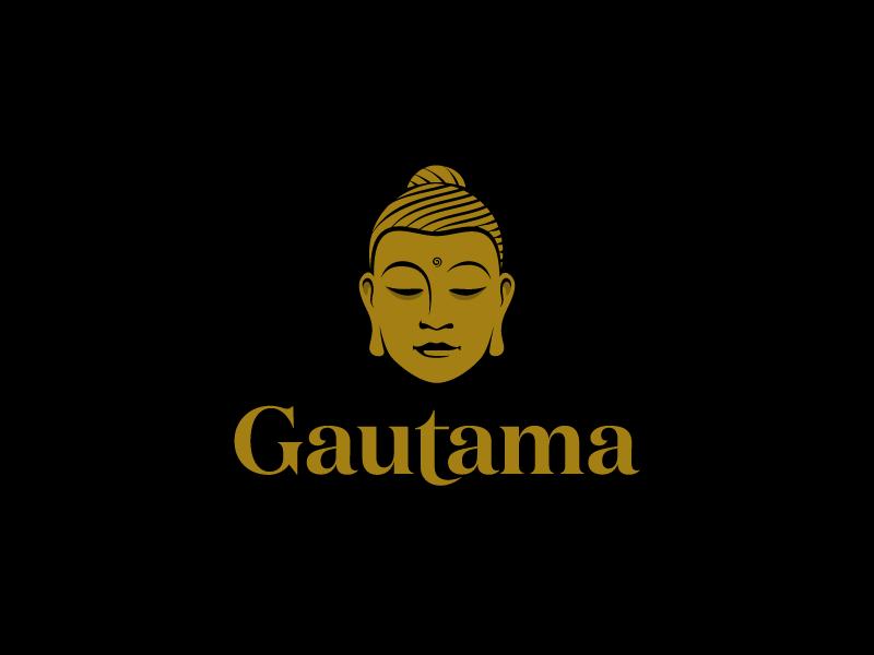 Gautama gautama head logo calm buddha hair face