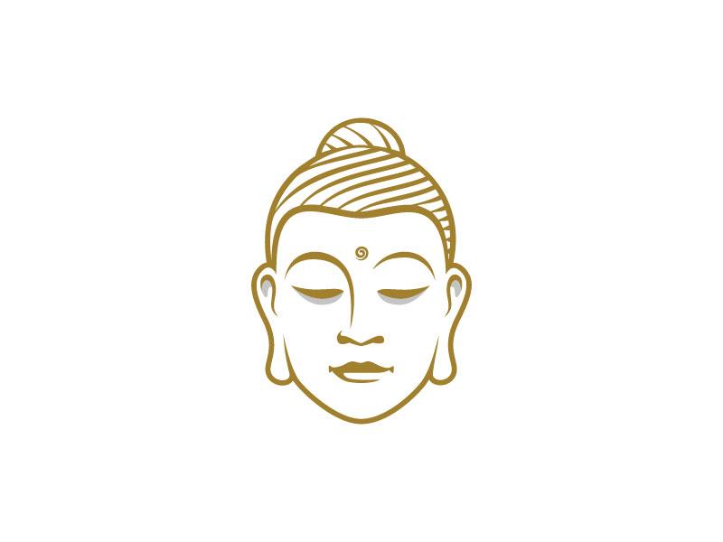 Gautama 1 gautama head logo calm buddha hair face