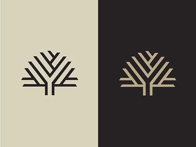 Tree line branch simple outline icon logo symbol nature line tree