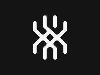 X shape abstract icon logo symbol