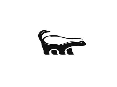 Honey Badger honey badger animal logo skunk wise