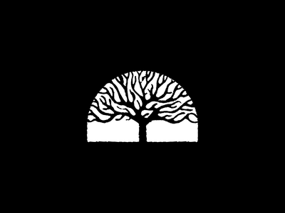 Burning Tree crown fire forest logo freehand texture nature tree burning
