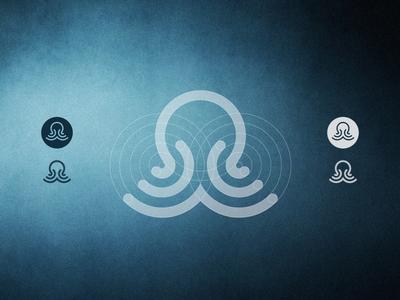 Suitu  octopus animal sea water logo branding web stevan creature tentacle