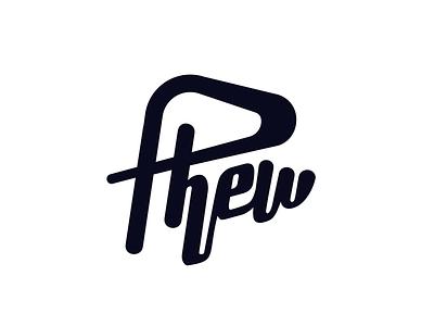 Phew word wordmark logo type logotype phew