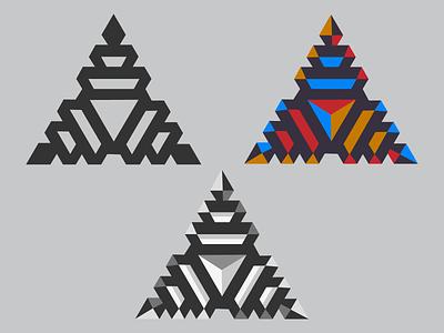 Pyramids geometric symbol shape black color illustration icon geometry logo pyramid
