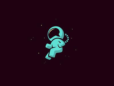 Moonbase moon planet astronaut space cosmos star illustration speech chat earth astro logo